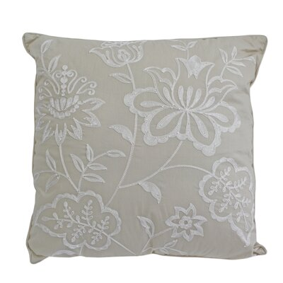 Josefien Square Decorative Cotton Throw Pillow Color: Taupe