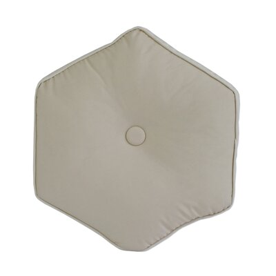 Josefien Hexagon Decorative Cotton Throw Pillow Color: Taupe
