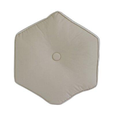 Josefien Hexagon Decorative Cotton Throw Pillow Color: Taupe