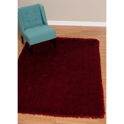 Kristian Red Area Rug Rug Size: Rectangle 53 x 72