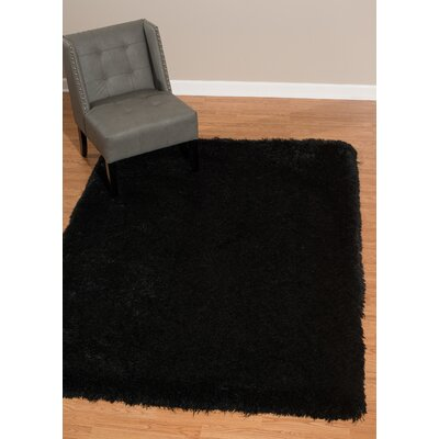 Kress Black Area Rug Rug Size: Rectangle 53 x 72