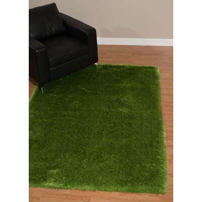 Krick Green Area Rug Rug Size: Rectangle 53 x 72