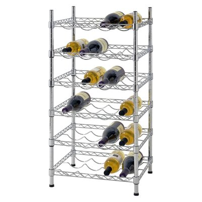 Bilski Wire 24 Bottle Floor Wine Rack