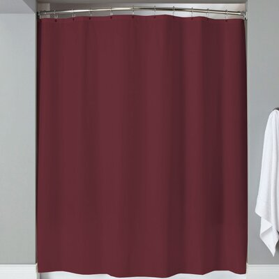 Karcher Magnets Shower Curtain Color: Burgundy