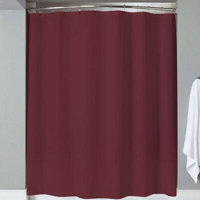 Karcher Magnets Shower Curtain Color: Burgundy