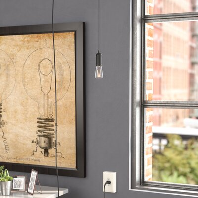 Allston 1-Light Mini Pendant Finish: Black, Base Finish: Matte Black
