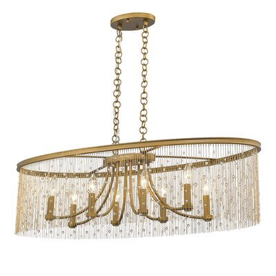Latrell 8-Light Crystal Pendant Shade Color: Crystal