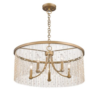 Latrell 5-Light Crystal Chandelier Color: Pearl Beads