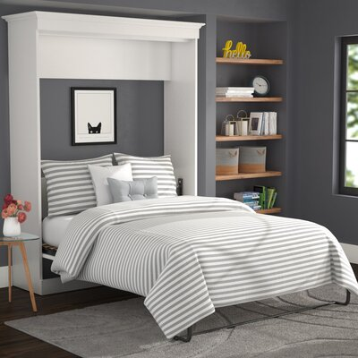 Acevedo Storage Murphy Bed Size: Queen, Color: White