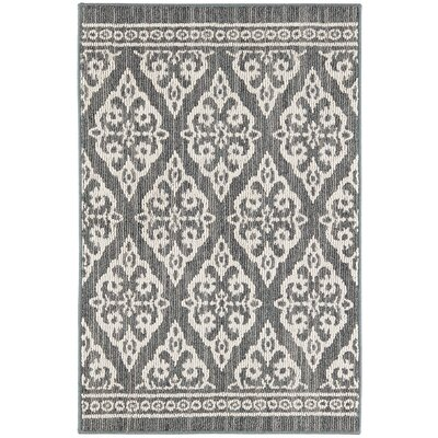 Laforge Denim/Cream Area Rug Rug Size: Rectangle 18 x 26