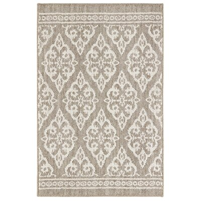 Lafrance Gray/Cream Area Rug Rug Size: Rectangle 5 x 7