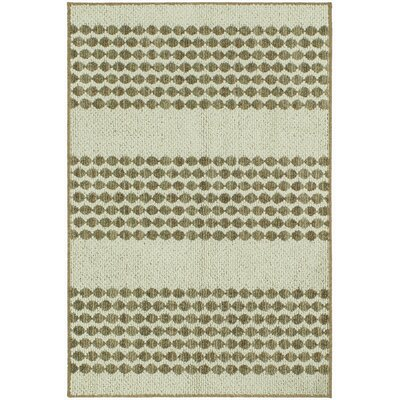 Mukai Dark Khaki/Cream Area Rug Rug Size: Rectangle 18 x 26