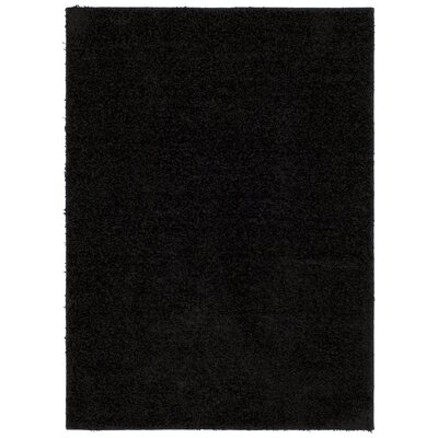 Adolphus Black Area Rug Rug Size: Rectangle 5 x 7