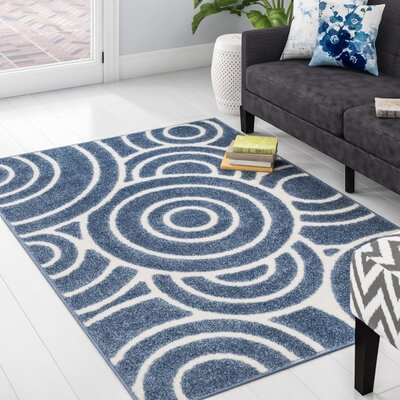 Mckay Blue Area Rug Rug Size: Rectangle 9 x 12
