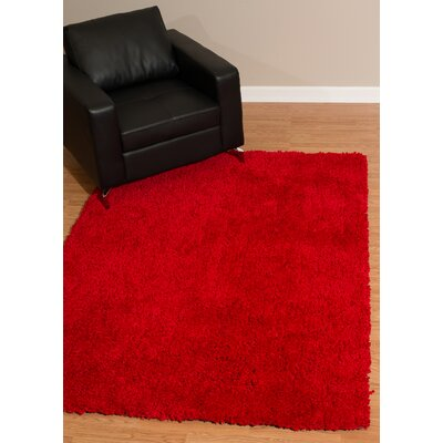 Mullenix Red Area Rug Rug Size: Rectangle 2'7