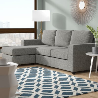 Cleland Heights Reversible Sectional Upholstery: Gray