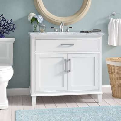 Caudill 36 Single Bathroom Vanity Set Base Finish: White