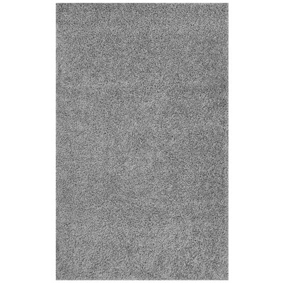 Mickelsen Solid Gray Area Rug Rug Size: Rectangle 8' x 10'