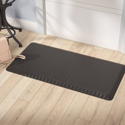 Behne Premium Comfort Kitchen Mat Color: Brown Rose