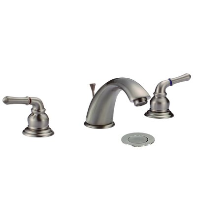 Dionna Widespread Double Handle Bathroom Faucet with Drain Assembly Finish: Brushed Nickel