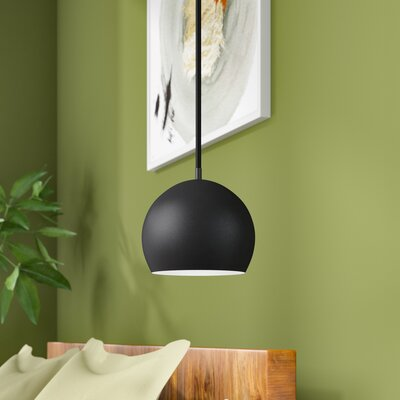 Westborough 1-Light Mini Pendant Finish: Black