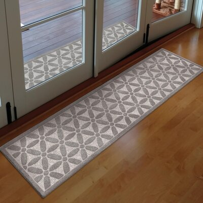 Kernan Gray Indoor/Outdoor Area Rug Rug Size: Runner 111 x 76