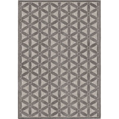 Kernan Gray Indoor/Outdoor Area Rug Rug Size: Rectangle 53 x 76