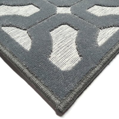 Dinh Gray Indoor/Outdoor Area Rug Rug Size: Rectangle 53 x 76