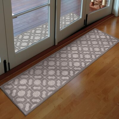 Dinsmore Gray Indoor/Outdoor Area Rug Rug Size: Runner 111 x 76