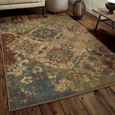 Bronstein Teawash Red Area Rug Rug Size: Rectangle 53 x 76