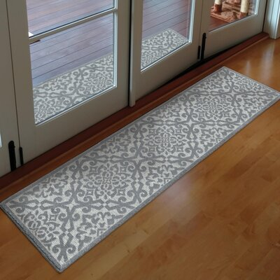 Farrel Gray Indoor/Outdoor Area Rug Rug Size: Runner 111 x 76