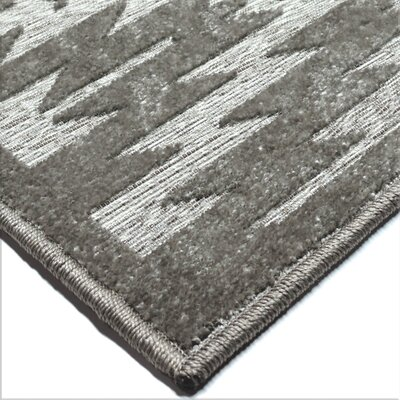 Lucey Gray Indoor/Outdoor Area Rug Rug Size: Rectangle 53 x 76