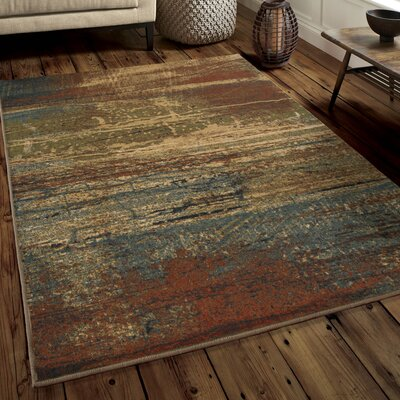 Obanion Red Area Rug Rug Size: Rectangle 710 x 1010