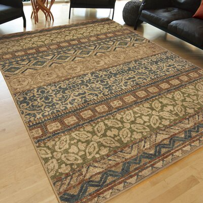 Bronner Beige Area Rug Rug Size: Rectangle 53 x 76