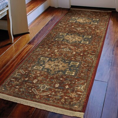 Ober Red Area Rug Rug Size: Runner 111 x 76