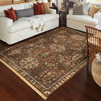 Oates Red/Beige Area Rug Rug Size: Rectangle 710 x 1010