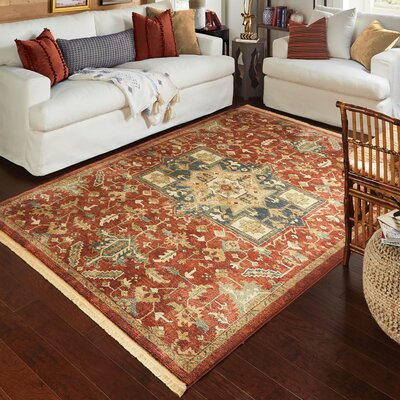 Ober Red Area Rug Rug Size: Rectangle 53 x 76