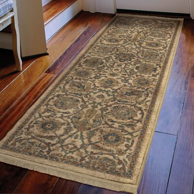 Hinkley Persian Varse Cream Area Rug Rug Size: Runner 111 x 76