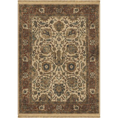 Hinkley Persian Varse Cream Area Rug Rug Size: Rectangle 53 x 76