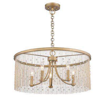 Latrell 5-Light Crystal Chandelier Color: Crystal Beads