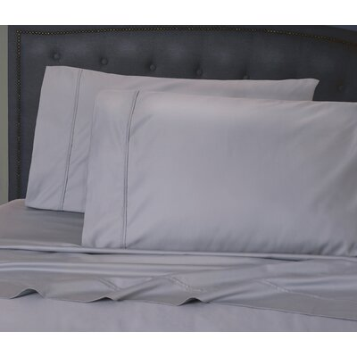 Hairston 500 Thread Count Sheet Set Size: King, Color: Silver