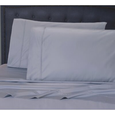 Hairston 1050 Thread Count Sheet Set Size: Queen, Color: Blue