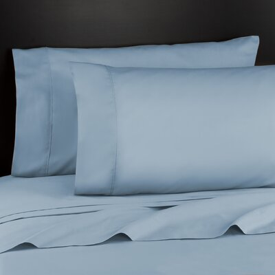 Haile 200 Thread Count Sheet Set Size: Full, Color: Light Blue