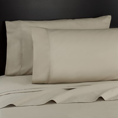 Haile 200 Thread Count Sheet Set Size: Twin, Color: Light Taupe