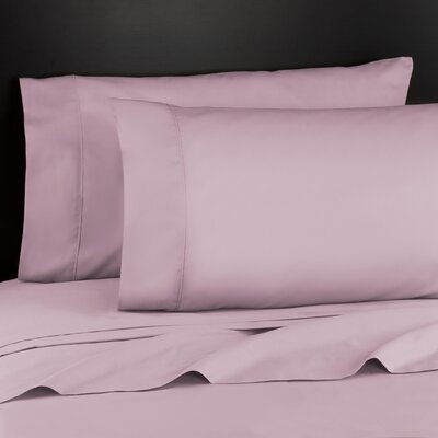 Haile 200 Thread Count Sheet Set Size: Twin, Color: Light Pink