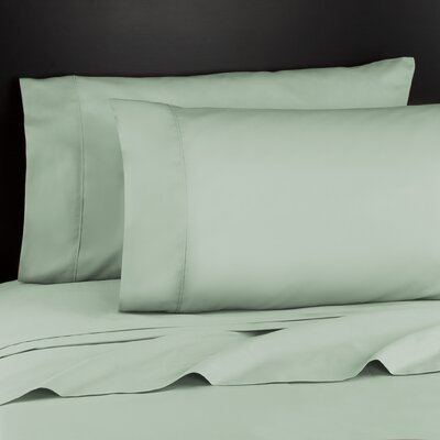Haile 200 Thread Count Sheet Set Size: Full, Color: Sage
