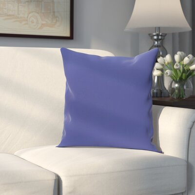 Georgia Outdoor Throw Pillow Color: Blue Suede, Size: 18 H x 18 W x 1 D