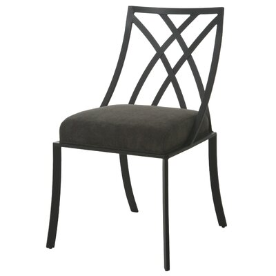 Harris Upholstered Dining Chair Frame Color: Black