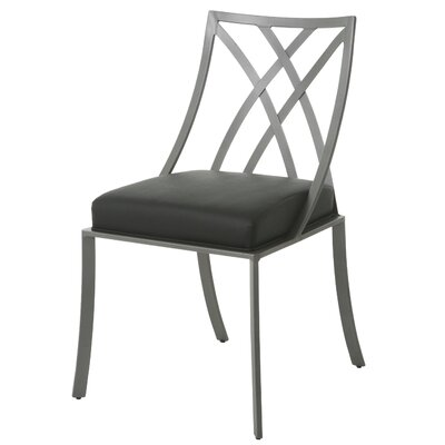 Harris Upholstered Dining Chair Frame Color: Gray