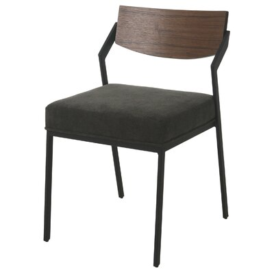 Blount Upholstered Dining Chair Color: Black